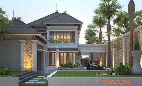 rumah mewah 2 lantai & kolam renang privat, modern