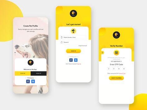Pet App - Login Concept