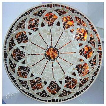 Prato Giratorio Rosacea 2 60cm Mosaicos