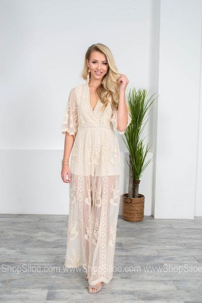 2b85e3bcf7a Antique Lace Ivory Jumpsuit in 2019