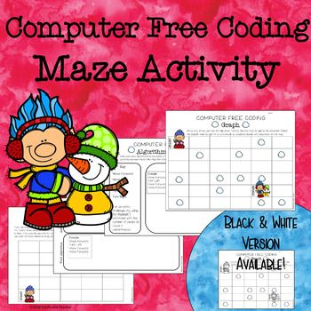 Code Maze For Computer Free Coding Hour Of Code Maze Activity Unplugged Coding Activities Coding For Kids Computer Coding For Kids