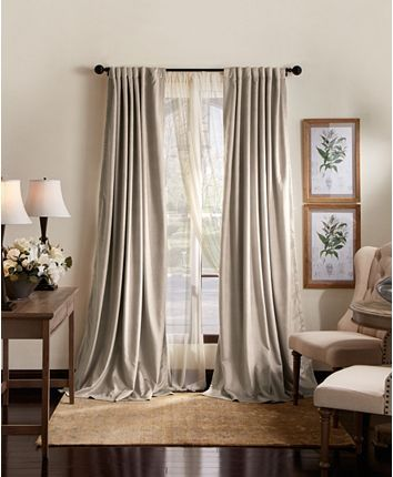 Martha Stewart Collection Martha Stewart Lucca Velvet 50 X 95 Blackout Curtain Set Reviews Window T In 2020 Curtains Living Room Panel Curtains Blackout Curtains
