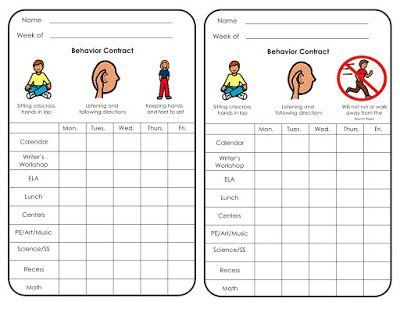 Special Education worksheets for use with Edmark Reading Program - music contract templates