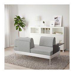 Delaktig 2er Sofa Mit Ablage Tallmyra Weiss Schwarz Ikea Schweiz 2er Sofa 3er Sofa Sessel Design