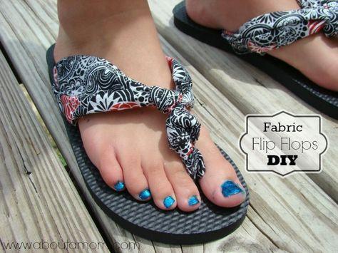 Fabric Flip Flops DIY {Tutorial} - About A Mom #bhgsummer