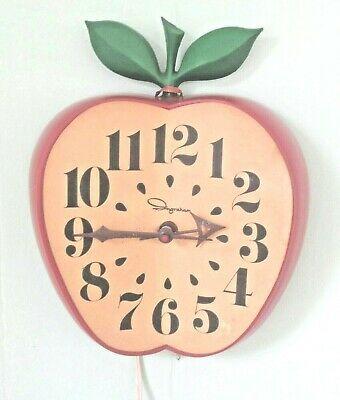 Ebay Ad Link Vtg Mid Century Apple Electric Kitchen Clock By Ingraham In 2020 Kitchen Clocks Clock Kitchen Wall Clocks
