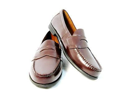 s Shoes Brown Leather Penny Loafer Slip
