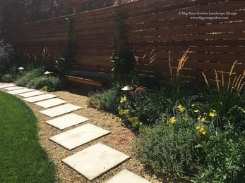 Poured In Place Concrete Pavers Surrounded By Lodi Angular Gravel Drought Tolerant Plants Throughout Raised Garden Beds Raised Garden Beds Diy Raised Garden