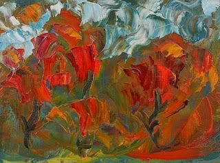 """Where ART Lives Gallery Artists Group Blog: Abstract Flower Oil Painting """"Garden to Tend"""" by C..."""