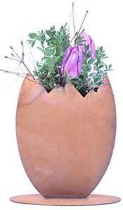 Photo of Rostikal | Edelrost Deko Osterei zum bepflanzen | schöne Dekofiguren für Ostern und Frühling 23 cm a