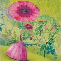 POSTCARDS | Mila Marquis | Woman with Poppy - Mila Marquis Postcard | Edition Gollong