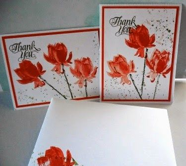 383- Penny Tokens Stampin Spot.  These are thank you cards posted for Spring Fever Blog Hop at the Wacky Watercooler.  http://pennytokensstampinspot.blogspot.com/2015/02/wacky-watercooler-spring-fever-2015.html