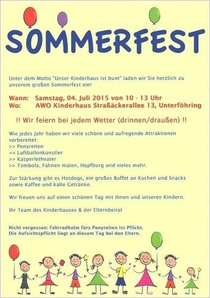 Einladung Sommerfest Kindergarten Muster Sommerfest Kindergarten Einladung Sommerfest Sommerfest
