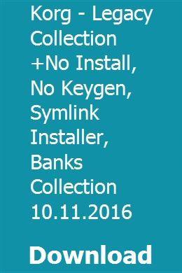 korg legacy collection digital edition keygen mac
