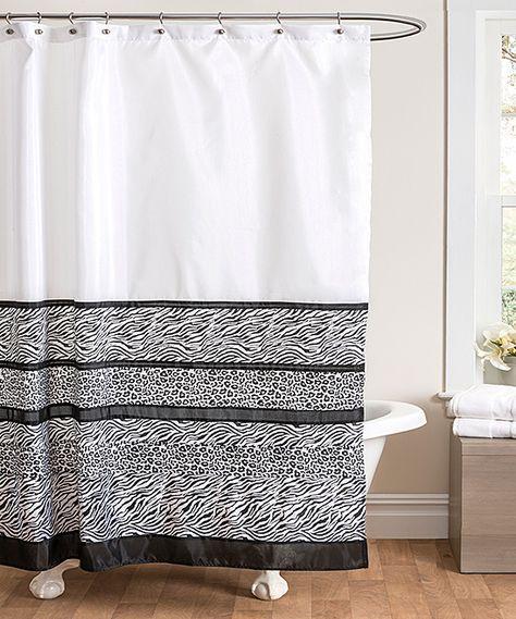 Black White Tribal Dance Shower Curtain Black White Shower