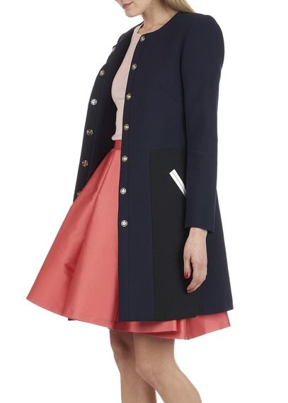 Manteau à empiècements Bleu by TARA JARMON