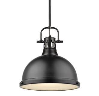 Golden Lighting 3604 L Blk Blk Black Matte Black Duncan Single Light 14 Wide Pendant In 2020 Dome Pendant Lighting Golden Lighting Black Pendant Light