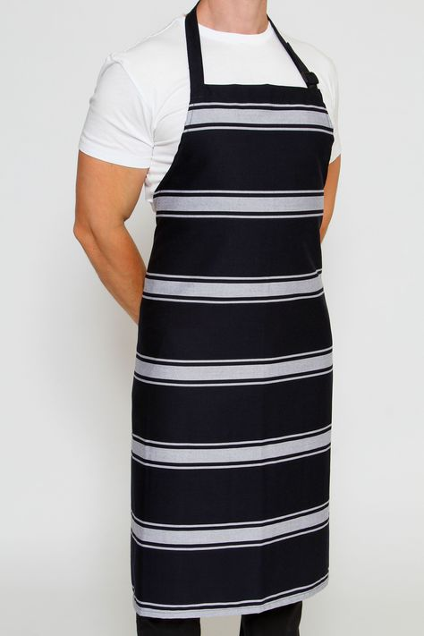 Bratting Stripe Chefs Apron... a Must Have for any Chef! Durable and extremely colour fast (will not fade!) Ready to tackle the busiest of kitchens!