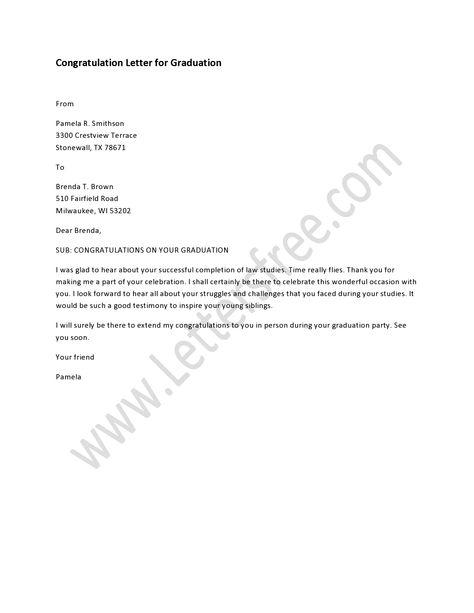 Graduation Congratulations Letter  BesikEightyCo