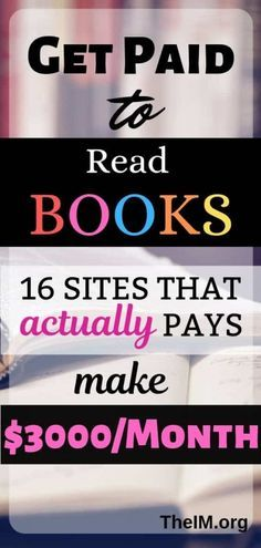 Get Paid To Read Books : 12 sites to checkout in 2020 Get Paid To Read Books : 12 sites to checkout in out to earn money online to make money online money from home to make extra money from home jobs legitimate Hobbies That Make Money, Ways To Earn Money, Earn Money From Home, Earn Money Online, Money Tips, Money Saving Tips, Way To Make Money, How To Make, Online Jobs