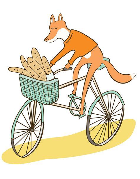 4be7b2a96f6 Fox on a bike kids tshirt – The Club of Odd Volumes