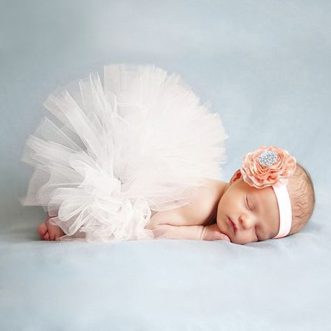 Bebe-Recien-Nacido-Nina-Diadema-Banda-Pelo-Sombrero-Tutu-Falda-Fotografia-Lindo