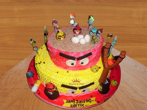Awesome Order Online Angry Bird Cake For Kids Special Designer Birthday Birthday Cards Printable Nowaargucafe Filternl