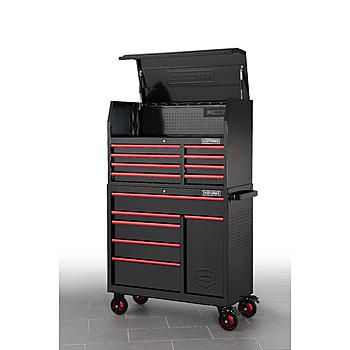 Craftsman Craftsman 41 14 Drawer Top Chest And Cabinet Black Tools Tool Storage Bottom Rollaway Ches Detached Garage Designs Garage Design Tool Storage