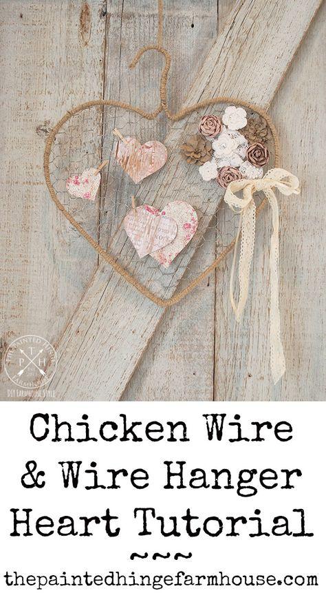 valentine decorations 304063412343736447 - Chicken Wire & Wire Hanger Heart Tutorial Source by junglelilydream Valentines Day Decorations, Valentine Day Crafts, Holiday Crafts, Heart Decorations, Wire Hanger Crafts, Wire Hangers, Plant Hangers, Heart Diy, Heart Crafts