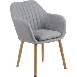 Ac Design Emilia Armlehnstuhl 57x61x83cm Hellgrau Eiche Natur Hellgraupiolo De Coole Stuhle Schwarze Essstuhle Und Leder Esszimmer Stuhle