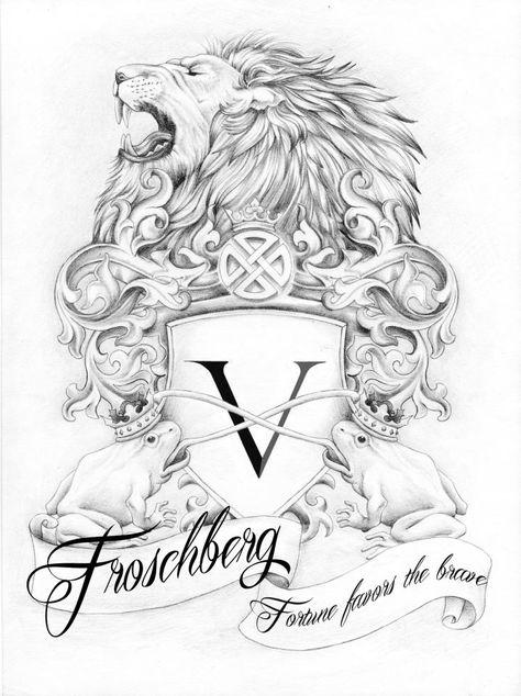 57 wappenideen  wappen körperkunst tattoos löwe skizze