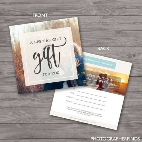 Photography Gift Certificate Template, Gift Card Template, Discount