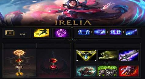 Irelia Build E Runas Irelia Lol Lolbuild Leagueoflegends Games