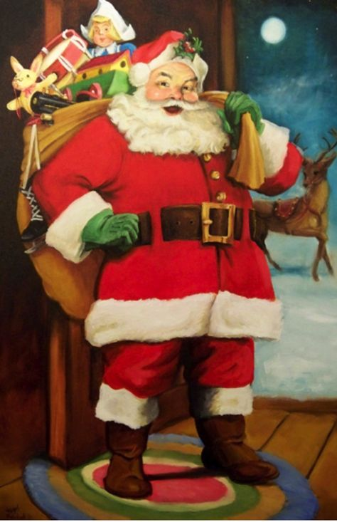 Father Christmas Santa St Nicholas YFS0004 Art Print A4 A3 A2 A1