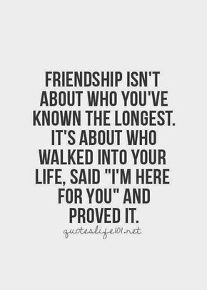 Friendship is about those who show their love