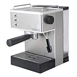 Welljoin Steam Espresso Machine Household Commercial Semi Automatic Coffee Milk Frother Machine Stainless Steel Espresso Machine Automatic Espresso Machine Espresso Coffee Machine
