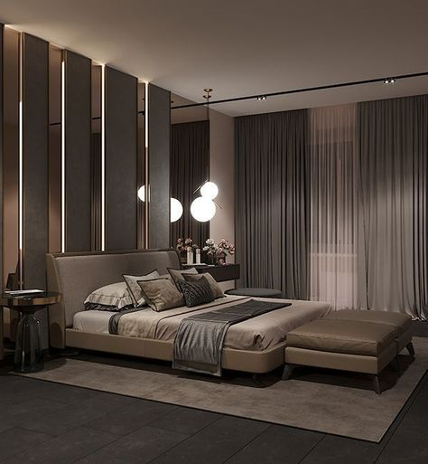 In Contemporary Style On Behance Luxurybedroomsinhouses Bedroom