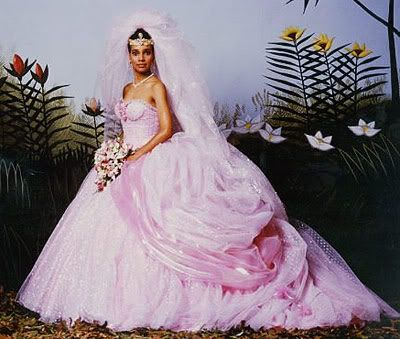 The Pink Confection Lisa Mcdowell Shari Headley Wears To Wed Prince Akeem Joffer Of Z Fairy Tale Wedding Dress Movie Wedding Dresses Princess Wedding Dresses