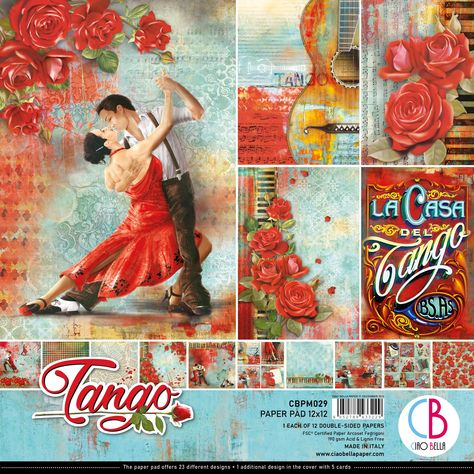 """12 Designs//2 Ciao Bella Double-Sided Paper Pack 90lb 6/""""X6/"""" 24//Pkg-Time For Home"""