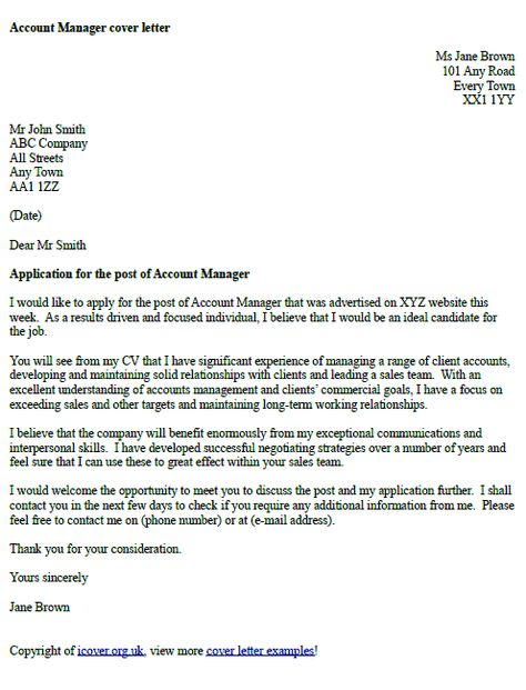 account manager cover letter office sample lettercv important - cover letter accounting