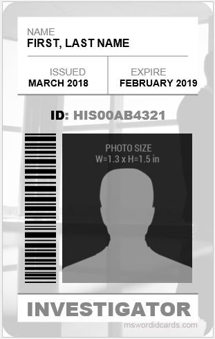 Pin By Miguel Angel Perez On Fbi Id Etc Id Card Template Card Template Flash Card Template
