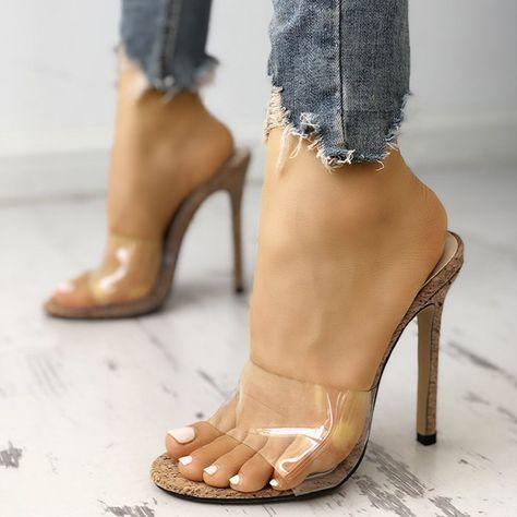 582e6ba0dfbf Women Transparent Sandals Heels Sexy Plus Size Shoes - PopJulia.com ...