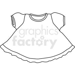 Black White Little Girl Dress Vector Clipart Dress Vector Little Girl Dresses Dress Clipart