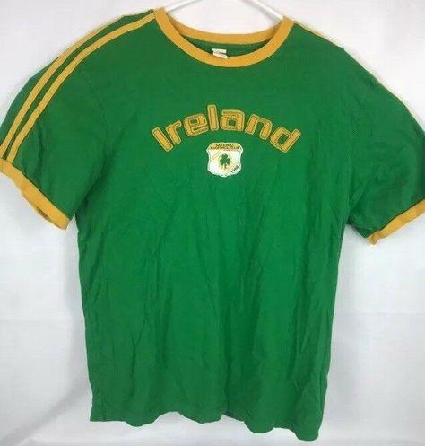 Vintage Atletica Roma Ireland Shirt Mens Xl Spell Out Green Contrasting Trim Fashion Clothing Shoes Accessories Mensclot Mens Shirts Ireland Shirt Shirts