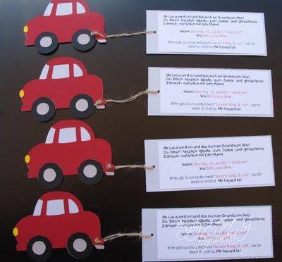 Perfekt Die Besten 20+ Einladung Kindergeburtstag Basteln Auto Ideen Auf Pinterest