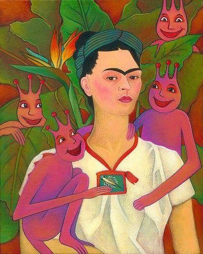 Frida Kahlo Seamonkeys With Images Monkey Art Sea Monkeys Art