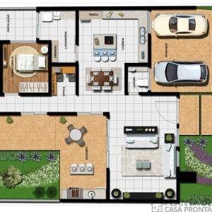 Projeto Casa Térrea Ct 61 Planta De Casa Pronta Minha