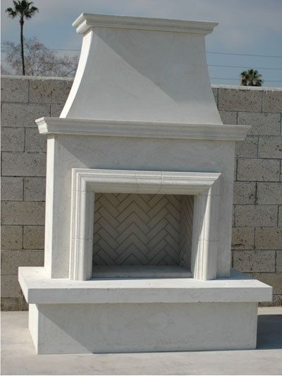 Outdoor Fireplaces Nice And Simple Paint In A Two Tone