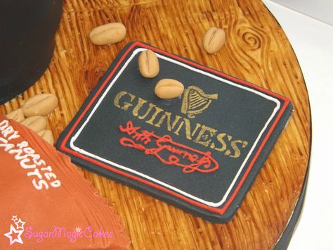 Guinness beer mat :) with nuts