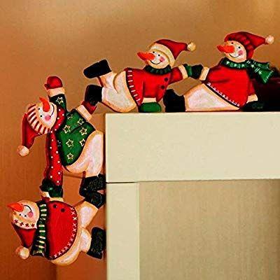 Zuruck Schneemann Weihnachten Illustration Deko Weihnachtsmann